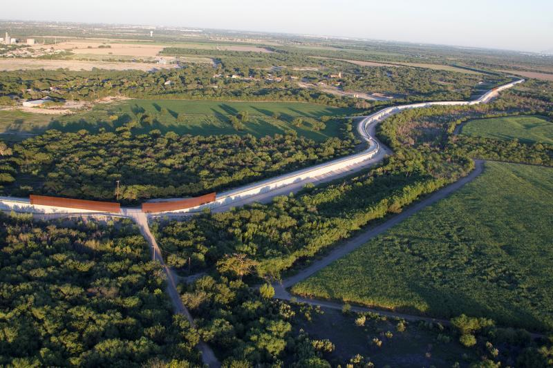 Department of Homeland Security's FY 2017 Enacted Appropriations provided funding to construct 35 gates to close gaps in the existing 55 miles of levee and border wall in the Rio Grande Valley Sector. Pictured is an area near McAllen, Texas, from September 2013. Photo by Donna Burton