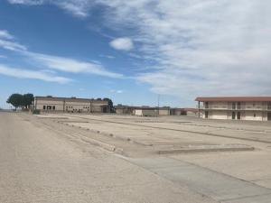 The area in front of the U.S. Border Patrol Academy dining facility would normally be teeming with trainees in Artesia, New Mexico. The COVID-19 pandemic temporarily closed the academy, as well as the Field Operations Academy in Glynco, Georgia, where CBP officers are trained. Photo by Acting Assistant Chief Patrol Agent Donna Twyford
