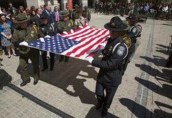 CBP Honor Guard carrying flag