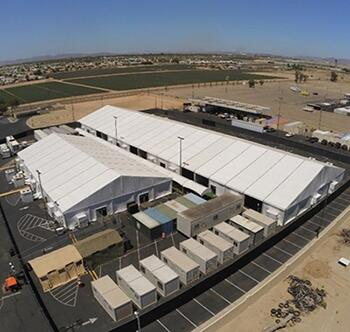 Photograph of new temporary structure in Yuma, AZ