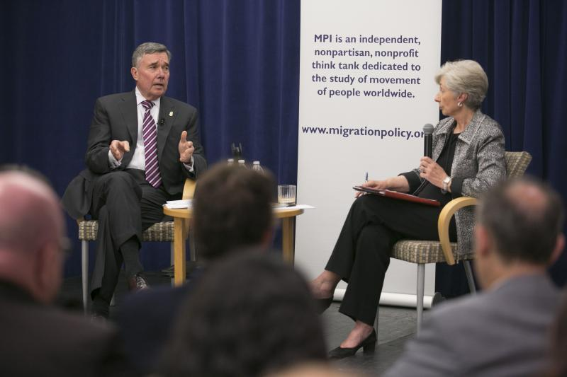 Commissioner Kerlikowske discusses immigration with Migration Policy Institute Senior Fellow Doris Meissner during the MPI leadership vision series Sept. 22 in Washington, D.C.