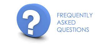 Image of a question mark and text that read: frequently asked questions.
