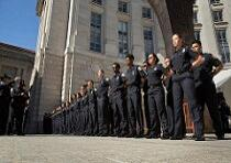 CBP explorers members in formation at Valor Memorial