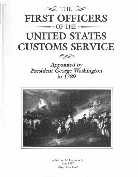 Photo of Cover of The First Office of the United States Customs Service