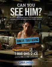 Human Trafficking - Forced Labor Poster