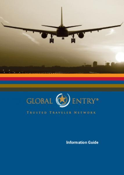 Global Entry Information Guide Publication Cover