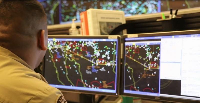 CBP AMO Detection Enforcement Officer developing intelligence on potential criminal activity using radar
