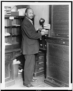 Matthew Henson at work at the New York Custom House.