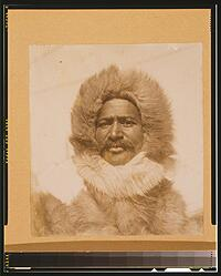 Matthew Henson pictured on an Arctic expedition.
