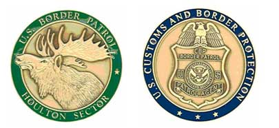 Front and back images of Houlton Sector's Challenge Coin.