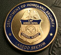 Back side image of Laredo Sector's Challenge Coin