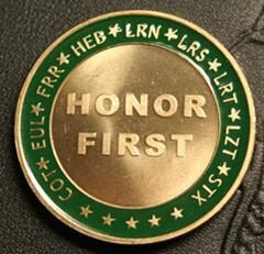 Front side image of Laredo Sector's Challenge Coin