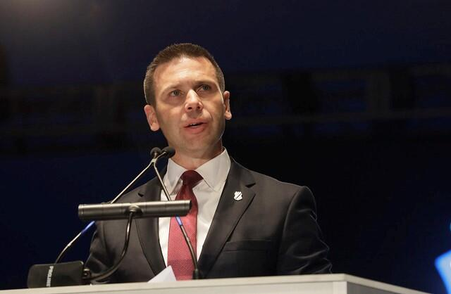 Department of Homeland Security Acting Secretary Kevin McAleenan delivers remarks during the 31st Annual Candlelight Vigil. Photo by Glenn Fawcett
