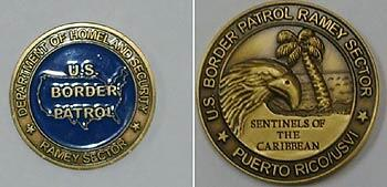 Front and back sides image of Ramey Sector's Challenge Coin