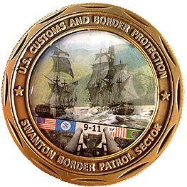 Front View of Swanton Sector Challenge Coin