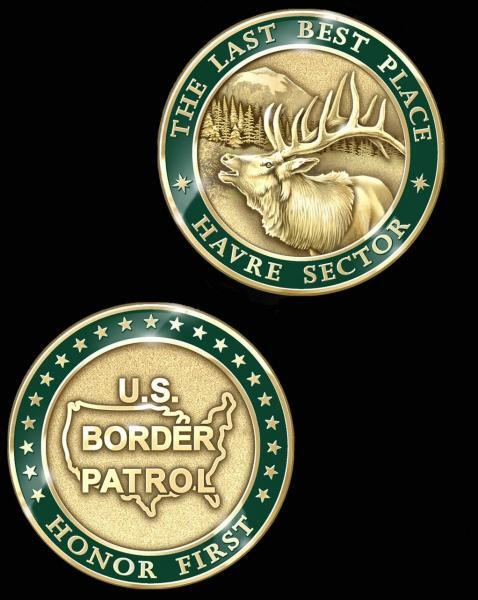 Image of the Havre Sector challenge coin