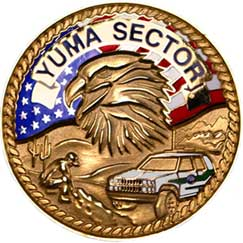 Back side image of Yuma Sector's Challenge Coin