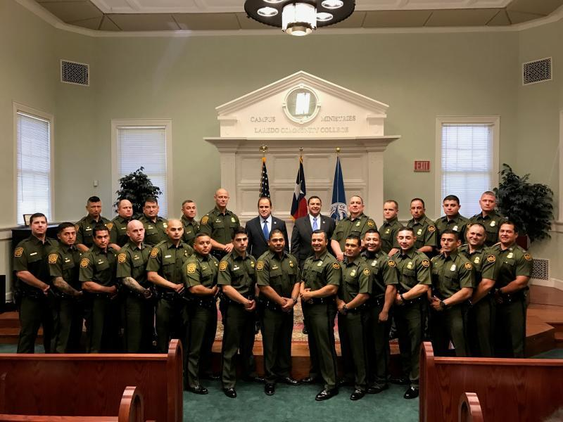 Border Patrol agents recognized at the ceremony