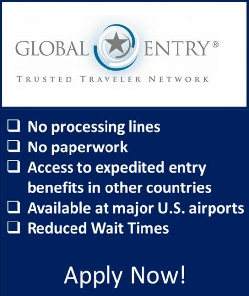 Global Entry Apply Now Button