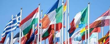 flags representing multiple countries
