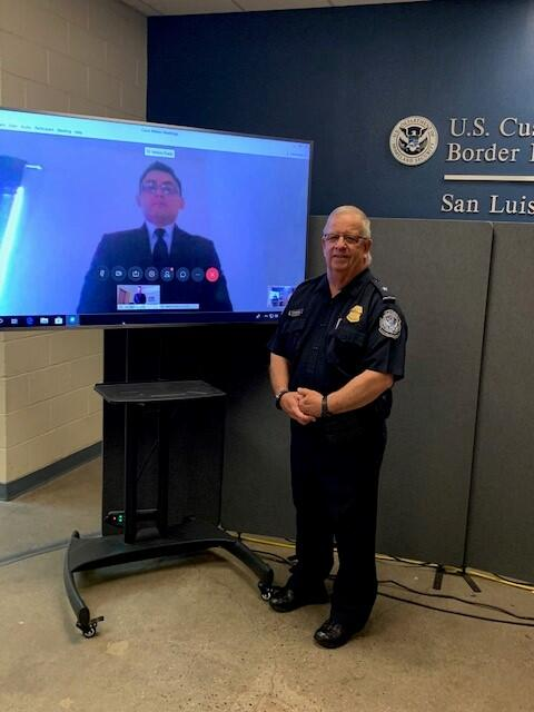 CBP Officer Virtually Sworn in at San Luis Field Office