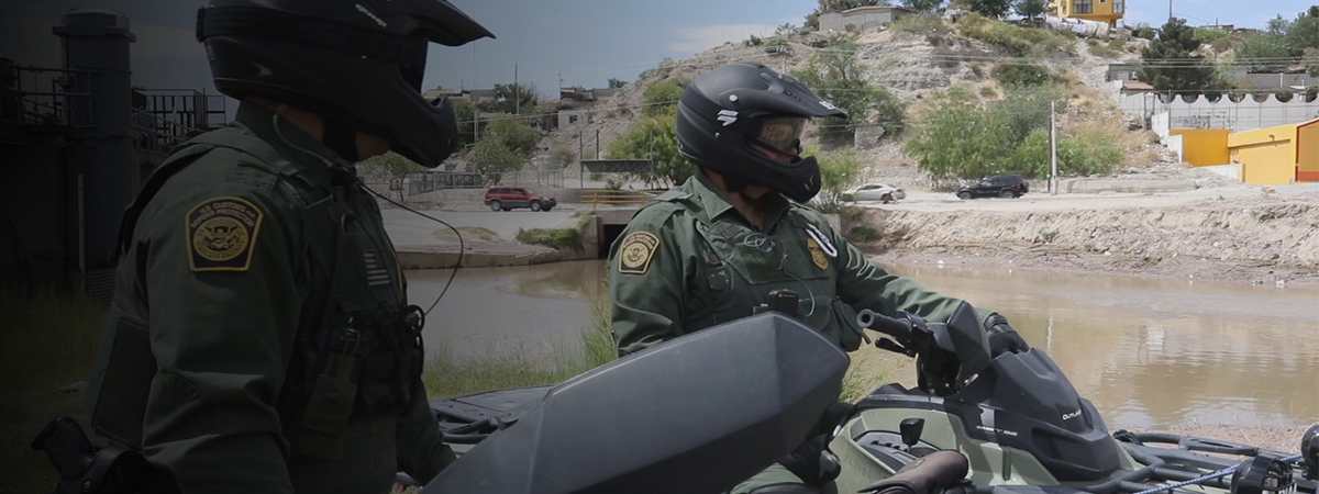 Border Patrol Agents conducting ATV patrol.