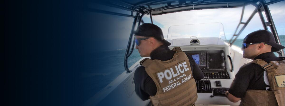 Photograph of two CBP Marine Interdiction Agents