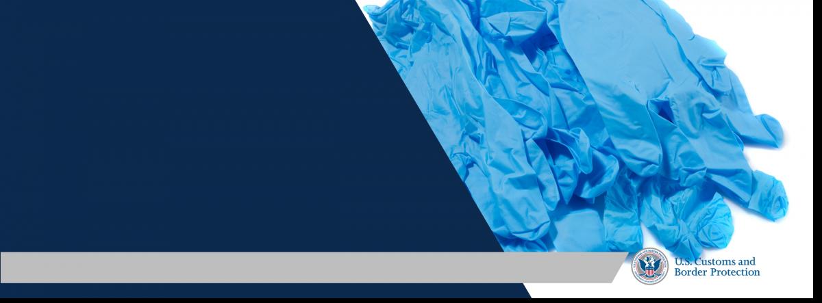 Web banner depicting rubber gloves
