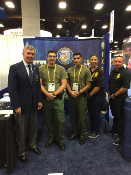 Commissioner Kerlikowske visits with CBP Law Enforcement Explorers at the IACP Conference in San Diego.