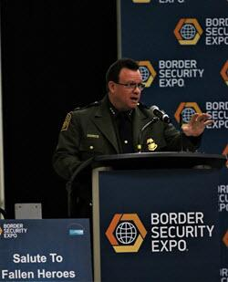 Deputy Chief, U.S. Border Patrol Scott Luck addresses attendees of the Border Security Expo