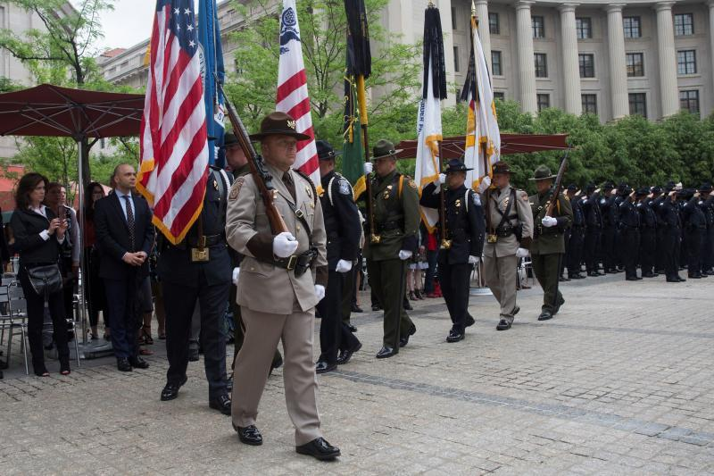 U.S. Customs and Border Protection held its annual Valor Memorial and Wreath Laying Ceremony Wednesday in Washington, D.C., to honor those that have died in the line of duty making the ultimate sacrifice. Photo by Donna Burton