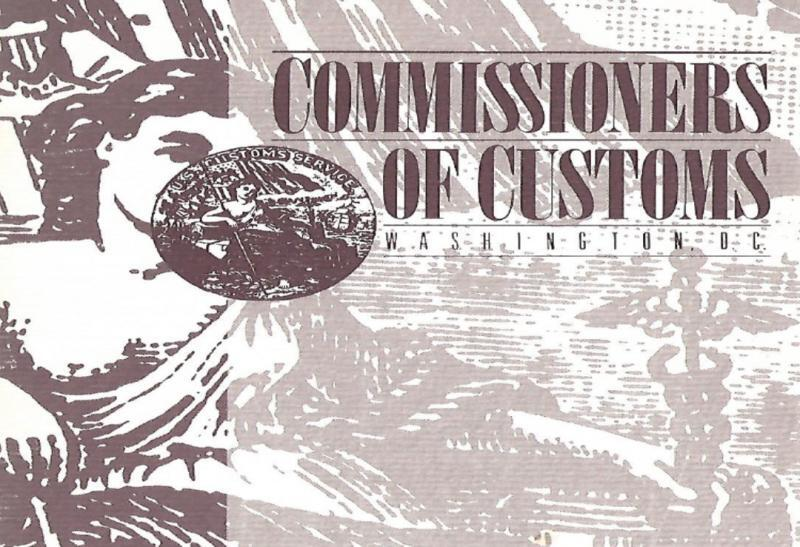 Photo of Cover of Commissioners of Customs