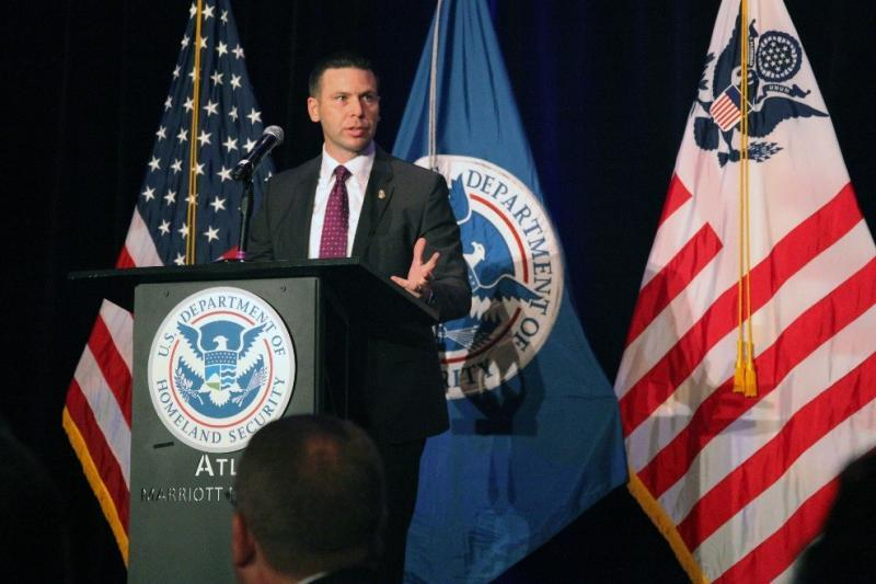 CBP Acting Commissioner Kevin K. McAleenan welcomes attendees at CBP's 2017 East Coast Trade Symposium, held Dec.5-6, in Atlanta.