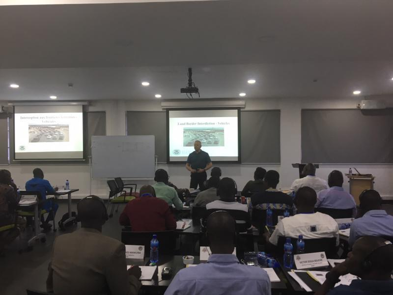 Director Corwin teaching at an Interanational Law Enforcement Agency Academy in Ghana
