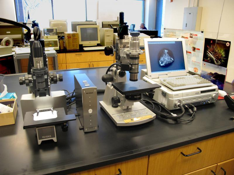 Current view of equipment in the CBP headquarters lab in Newington, Virginia. Photo courtesy of CBP