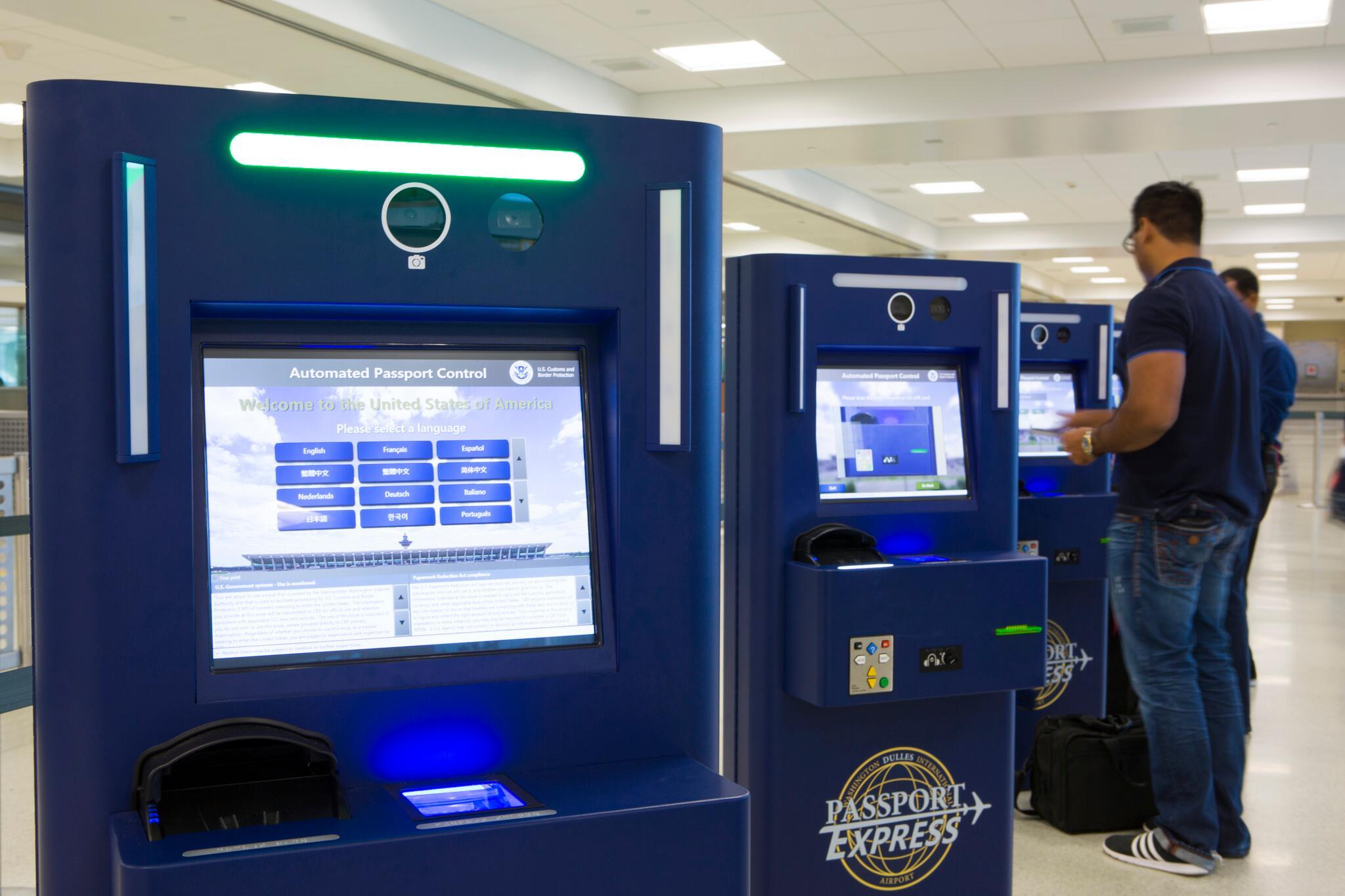 Apc And Global Entry Kiosks U S Customs And Border