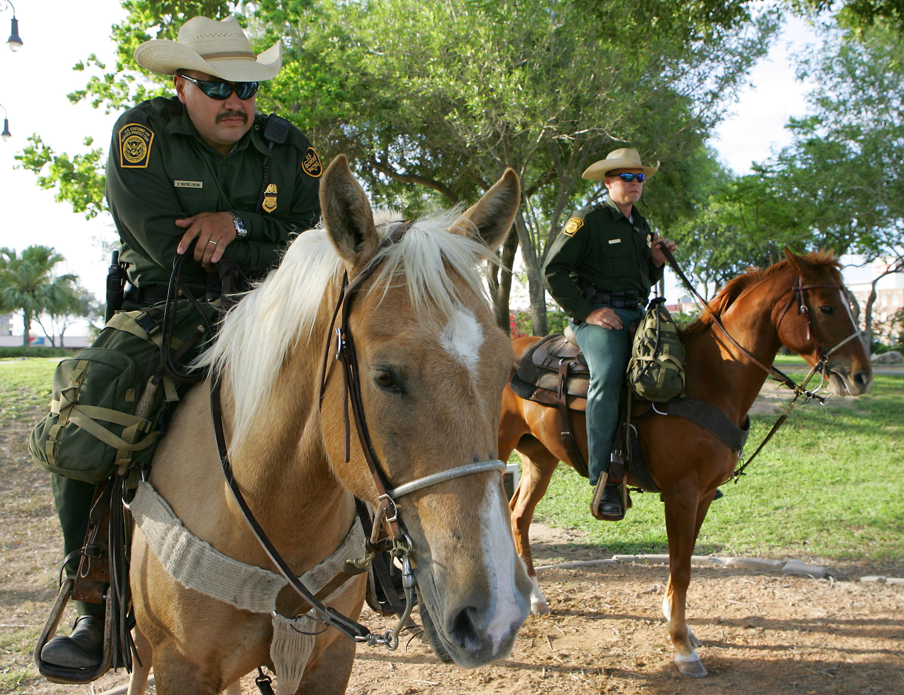 U.S. Border Patrol agents use horses in the most severe environments that regular vehicles cannot negotiate.