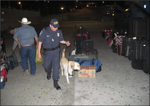 Drug Dog Sniffing boxes