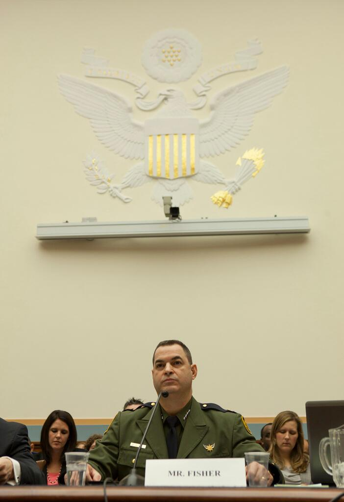 Border Patrol Chief Michael J. Fisher testifies before Congress.<em> (photo by James Tourtellotte)</em>