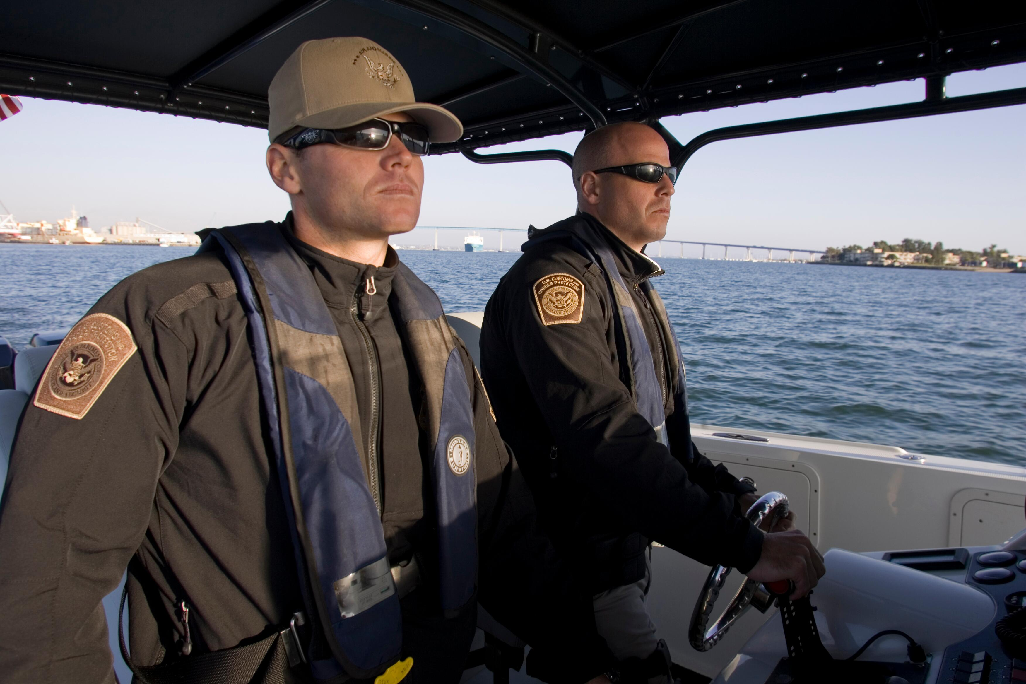 CBP marine interdiction agent patrol the waters off San Diego.