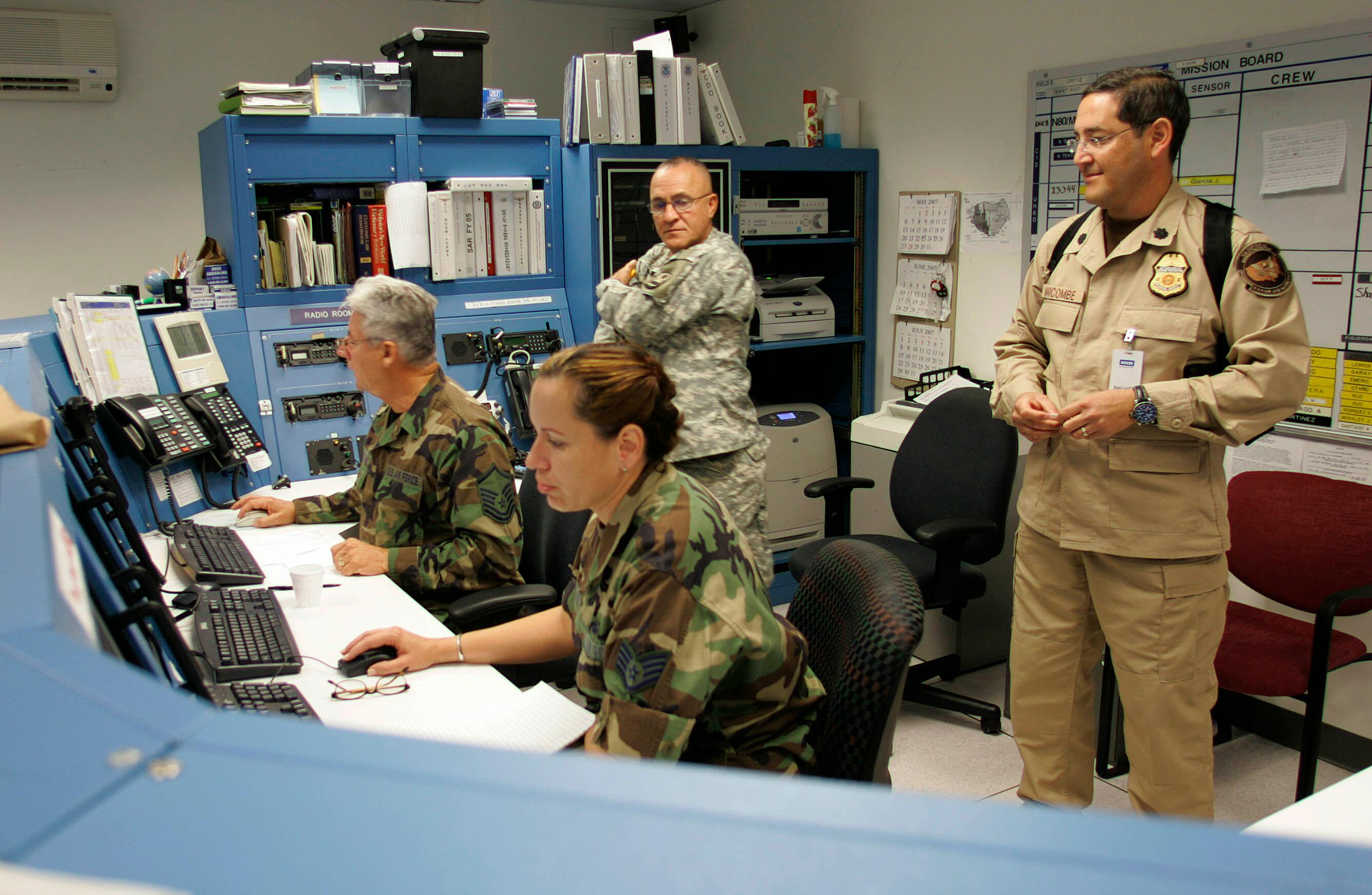 Customs and Border Protection works side by side with interagency partners at the Caribbean Air and Marine Operations Center.