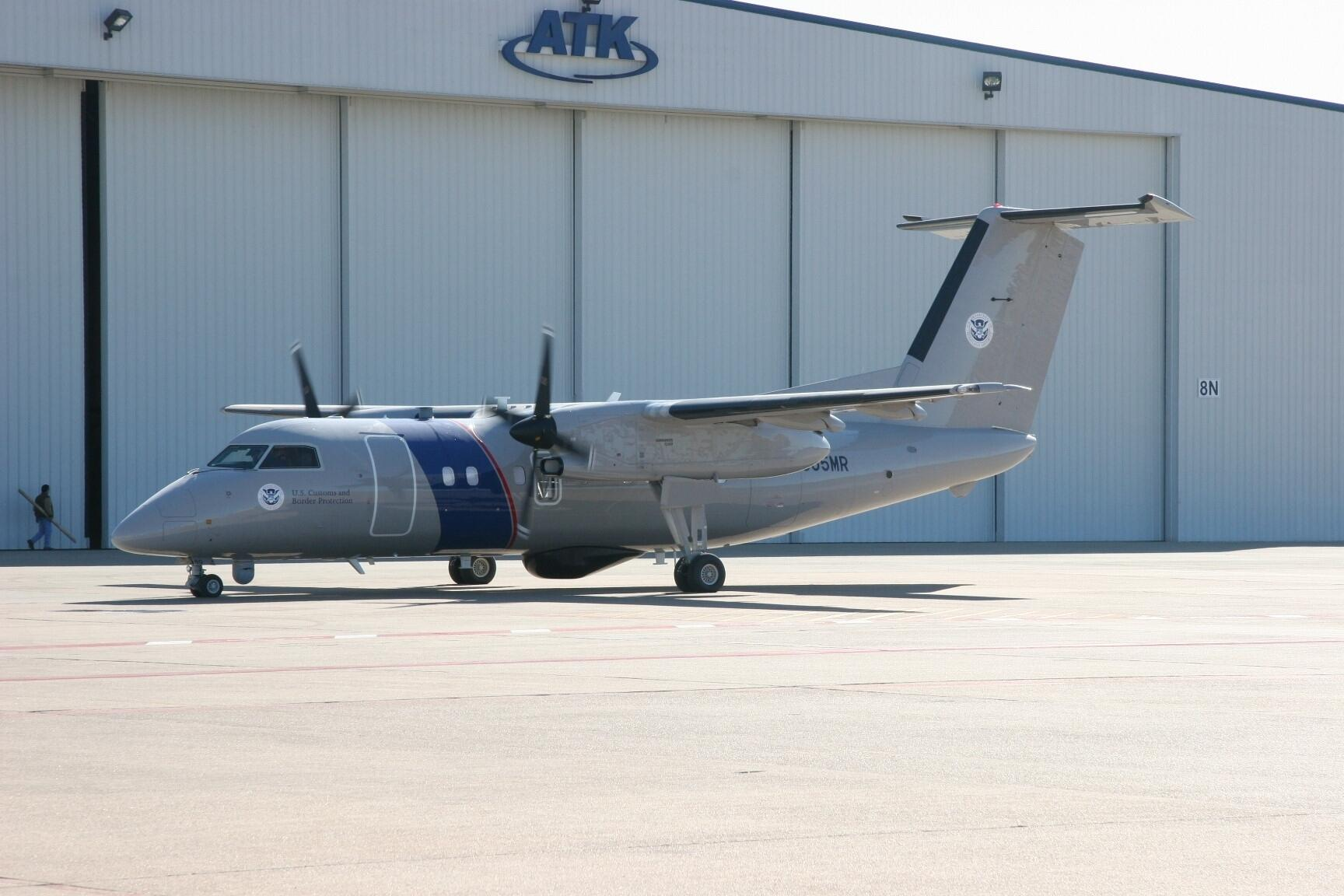 The Bombardier Dash 8 Q200 is a multirole patrol aircraft equipped with multimode radar and electro-optical/infrared sensors that can detect and track maritime and surface targets.