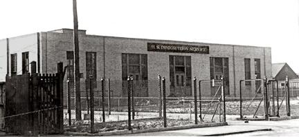 1925 photograph of the East Boston Immigration Station, located at 287 Marginal Street. Officially opened on April 20, 1920; the station was closed down in 1954.