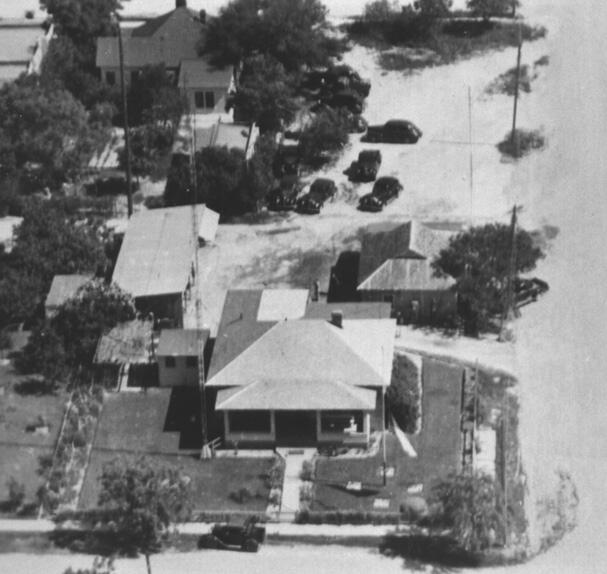 Aerial view of Del Rio Sector Headquarters located at 201 East 2nd Street, Del Rio, Texas - 1946.