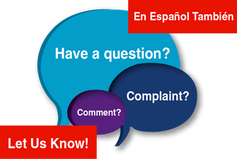 Have a question, comment, complaint?