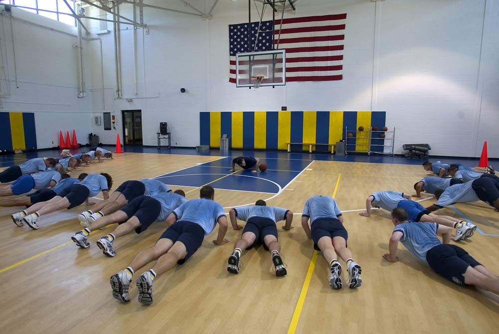 Physical fitness is a high priority at the Academy; CBP officers need to be in top shape before entering the academy.
