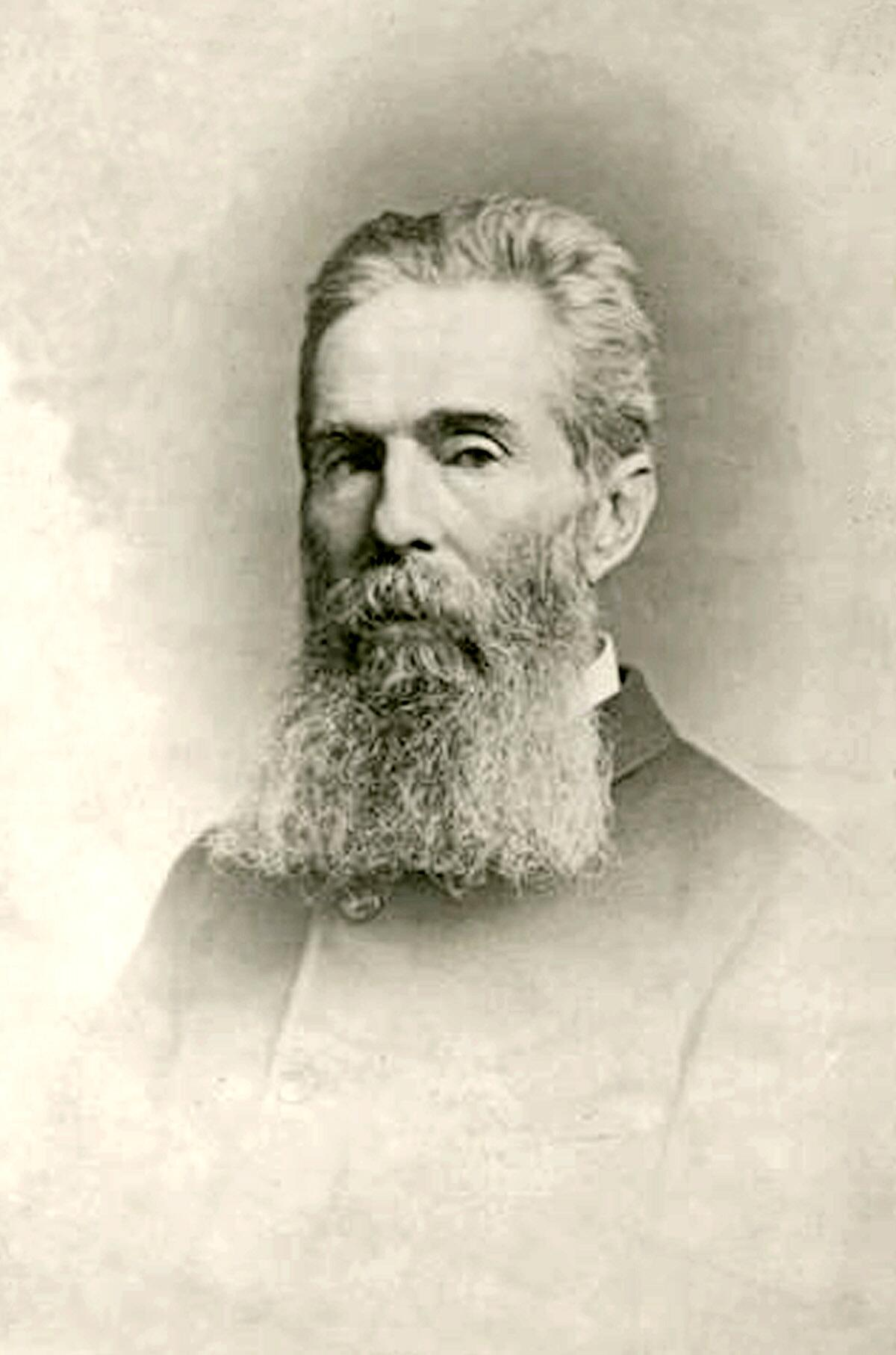 Herman Melville (1819-1891)1885 portrait by Rockwood, 17 Union Square (West), New York; George Gardner, photographer.  This photograph shows Herman Melville at the time of his retirement as a customs inspector at the Port of New York.