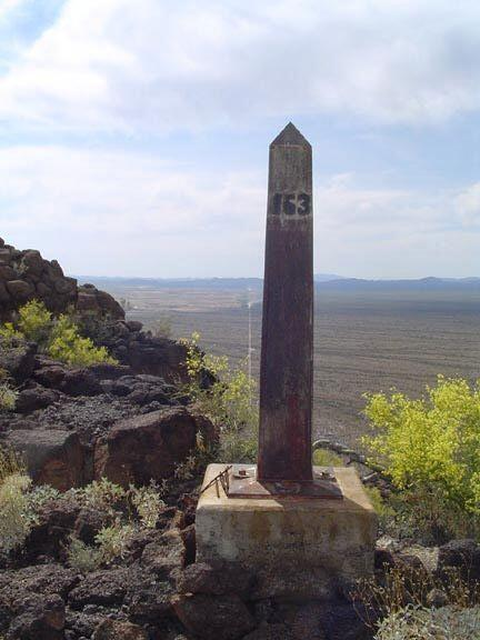 International Monument No. 163, located in Organ Pipe Cactus National Monument in Arizona.