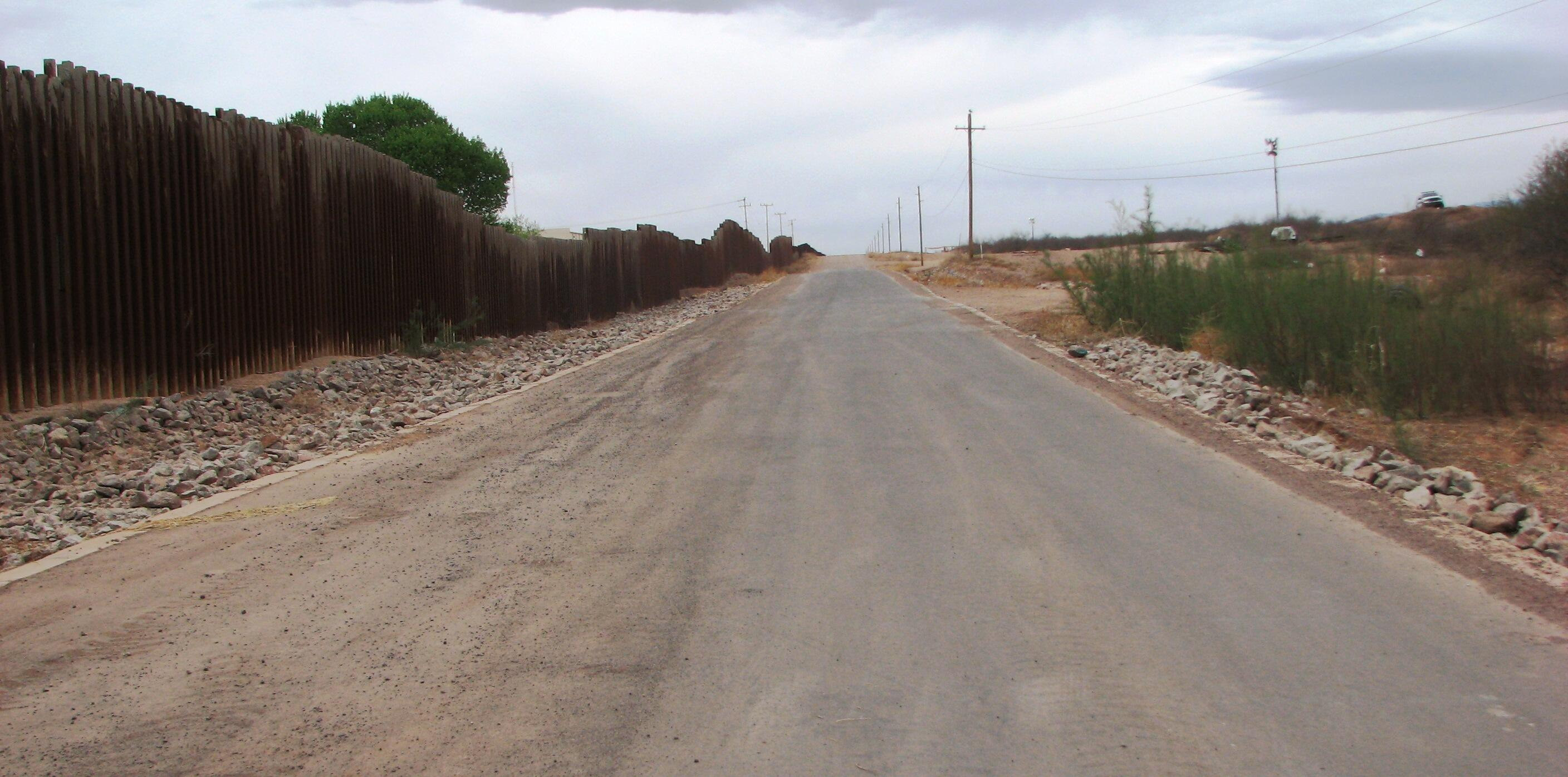 Patrol road in Tucson Sector
