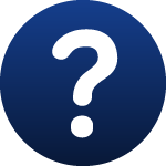 image of a question mark that links to frequently asked questions and answers